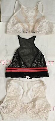 58c386ca640fd8 FREE PEOPLE VICTORIA SECRET MAURICES MEDIUM Lot of 3 Bralette wire ...