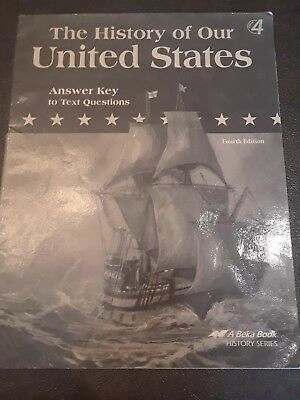 ABEKA 4TH GRADE History of Our United States Lot of 4 books