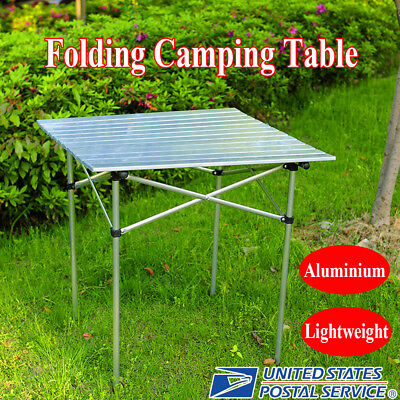 70X70X70CM Outdoor Portable Folding Fishing Picnic Roll-Up Square Camping Table