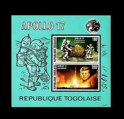 Togo - 1969 - Space - Apollo - Moon Landng - Kennedy + Imperf Mint Mnh S/sheet!