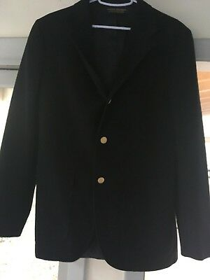 VTG 1950s Brooks Brothers Boys Navy Blazer Three Button Sport Coat SZ 20