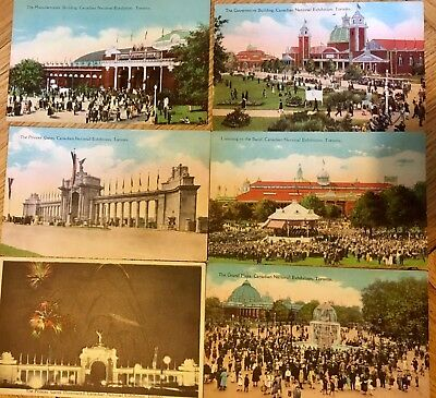 Canadian National Exhibition, Toronto- lot of 6 different postcards circa 1915