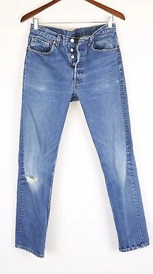 VINTAGE DISTRESSED USA MADE LEVIS 501 BLUE JEANS FITS 30x30