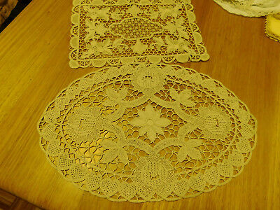 Vintage point lace table runner tray cover centrepiece x 2