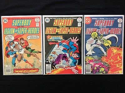 SUPERBOY Lot of 3 DC Comic Books - Run #222 223 224 - Legion of Super-Heroes!