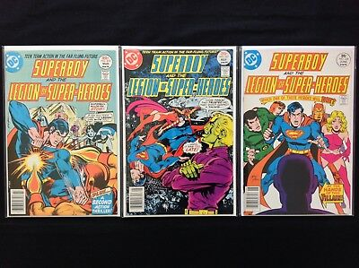 SUPERBOY Lot of 3 DC Comic Books - #225 227 228 - Legion of Super-Heroes!