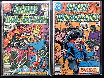 SUPERBOY Lot of 2 DC Comic Books - #233 235 - Legion of Super-Heroes!