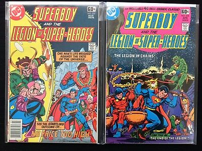 SUPERBOY Lot of 2 DC Comic Books - #237 238 - Legion of Super-Heroes!