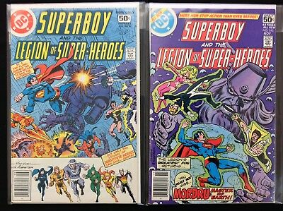 SUPERBOY Lot of 2 DC Comic Books - #243 245 - Legion of Super-Heroes!