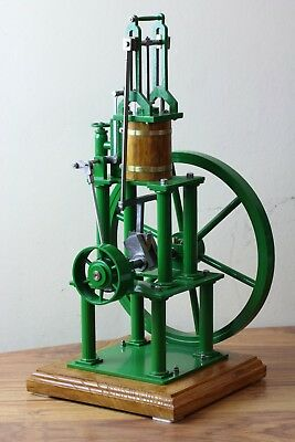 Vertical model LIVE Steam stationary Engine - single wheel