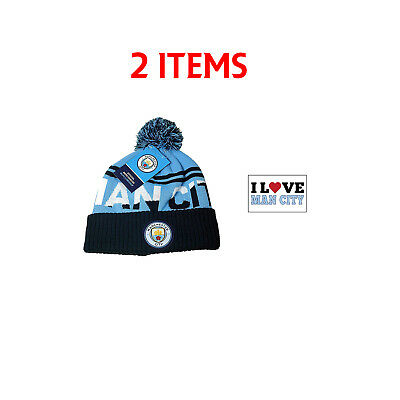 Manchester City Set Beanie and Scarf Reversible Official Licensed New Season e995688ce6e