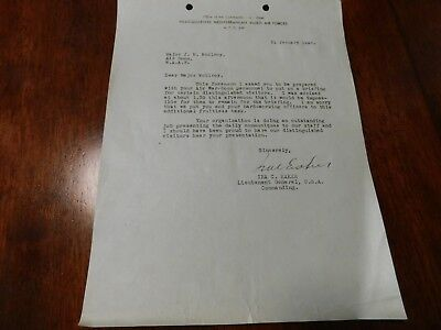 WWII letter from General Ira Eaker