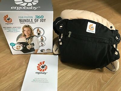Ergo Baby 360 Baby Carrier With Infant Insert Rrp $239 - Excellent Condition