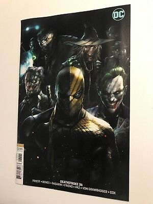 Deathstroke #36 / 9.0VF/NM /  Francesco MATTINA Cover B Variant / DC COMICS