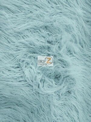 YETI MONGOLIAN FAUX FAKE FUR FABRIC - Mist - BY THE YARD COAT COSTUME CURLY PILE