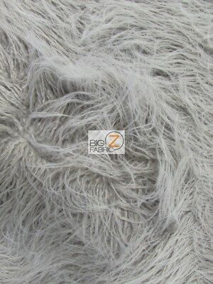 YETI MONGOLIAN FAUX FAKE FUR FABRIC - Vapor - BY THE YARD COAT COSTUME CURLY