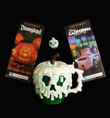 Disney Parks Halloween Evil Queen Green Poison Apple Stein Cup Mug & Glow Cube