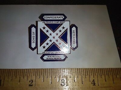 Kentucky Division Sons of Confederate Veterans Reunion Pin 2018 SCV Princeton KY