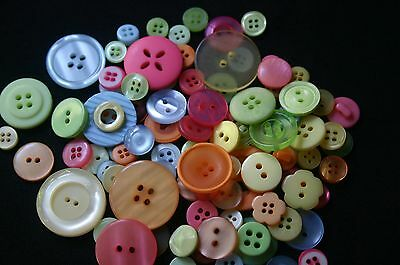100 Fruity/Citrus Resin Buttons - Sewing, Craft, Scrapbooking