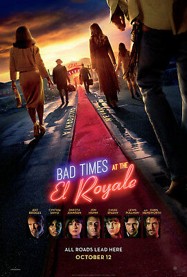"BAD TIMES AT THE EL ROYALE 2018 Original Ver B DS 2 Sided 27x40"" US Movie Poster"