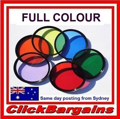 FULL COLOUR FILTER Blue Green Orange Purple Red Yellow Camera Lens Color Filters