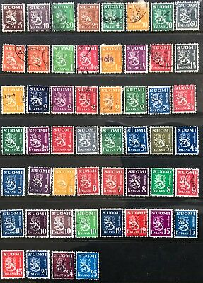 1930 Finland Definitives 5p-40m Set of 57/62 USED