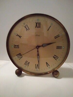 Bradley West Germany Round Vintage Clock Alarm