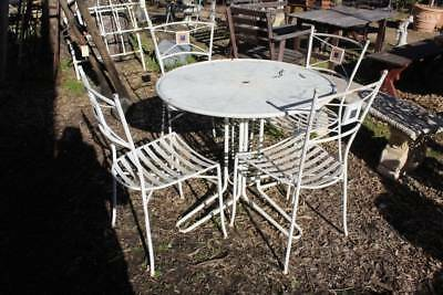 A 5 Piece Iron & Metal Outdoor Garden Dining Setting - Patio by Jamie Durie