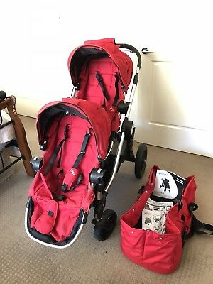 Baby Jogger City Select Double Stroller with Bassinet