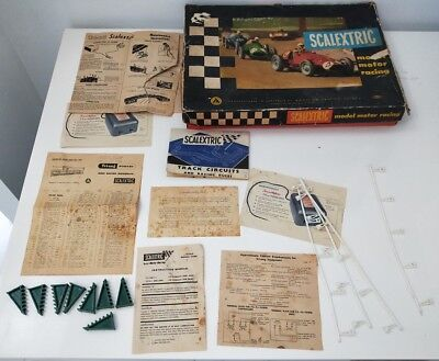 Scalextric slot car set LARGE BOX with papers, controllers and a few accessories