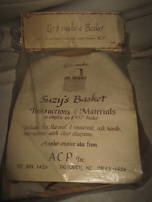 "ACP Let's Make a Basket Kit 8""x12"" Suzy's Basket NEW SEALED"