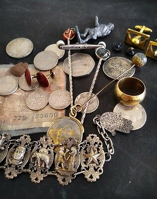 Clearance Lot Jewellery Enamel Hat Pins Bracelet Cufflinks Nina Ricci Coins Ring