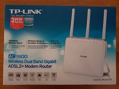 TP-Link Archer D9 AC1900 Modem Router *Like New!*