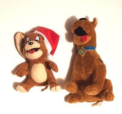 SCOOBY DOO & JERRY OF TOM & JERRY Plush Hanna Barbera STUFFED TOY LOT OF 2
