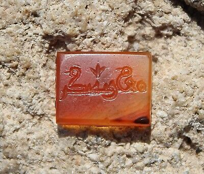 SEAL ANTIQUE STONE CARNELIAN WITH ARABIC WRITING MIDDLE EAST stamp Islamic Art