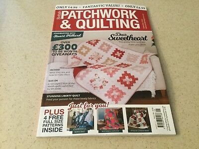 British Patchwork & Quilting magazine #296 Sep 2018 Dear Sweetheart quilt & more