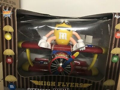 M&M's AEROPLANE Candy Dispenser 2009 Barnstorming Plane STILL ATTACHED IN BOX