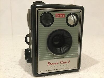 Kodak Brownie Flash two camera and carry case in very good condition.