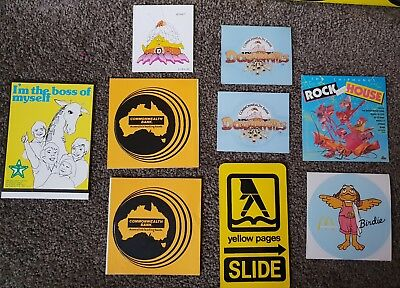 Vintage Australian Advertising Stickers 1980s Commonwealth Bank, Yellow Pages...