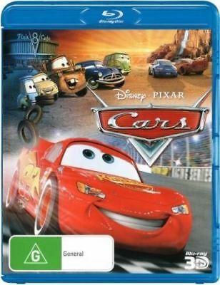 Disney Pixar Cars 1 1-Disc 3D Bluray Region Free ABC New