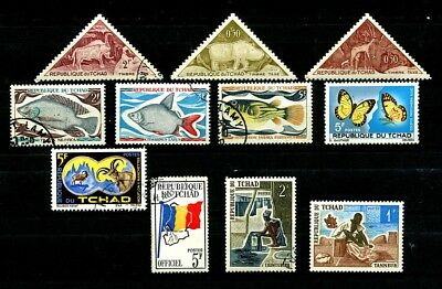 Chad 1960s 1970s stamps CTO