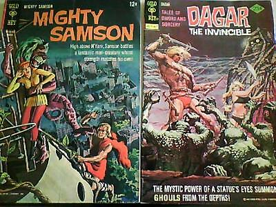 MIGHTY SAMSON # 4 1966 Gold Key. & DAGAR THE INVINCIBLE # 16 (1976)