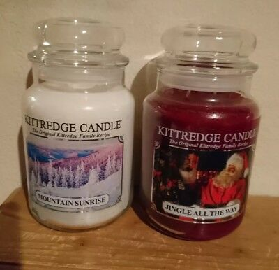 SALE OFFER - Set Of TWO Large FESTIVE Fragrances From KITTREDGE CANDLES -...