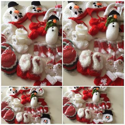 HAND  KNITTED /CROCHET Job lot Christmas  for Tombola/ school Fayre/ Resell