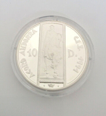Andorra 10 Diners 1995 ,4 Jahre  Zollunion ,Silber *PP/Proof* (15454 )