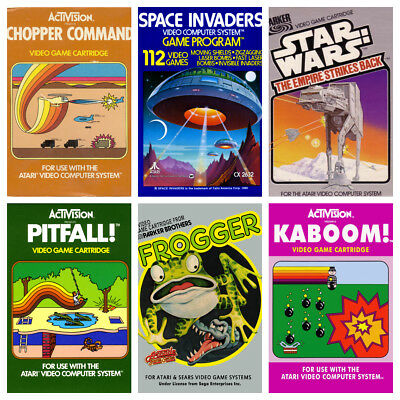 VINTAGE ATARI GAME POSTERS Wall Decor Art Photo Poster Kids Bedroom Wall A3, A4