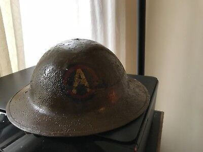 World War 1 Doughboy Helmet with Liner and Strap