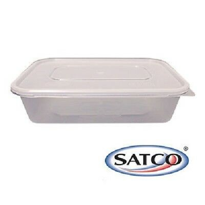 500ml SATCO HEAVY DUTY Food Container with Lid Microwave Take Away Storage