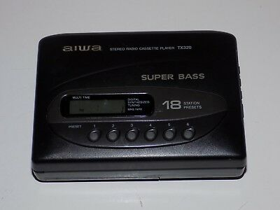 AIWA HS-TX320 Portable Cassette Player AM/FM Stereo Radio - Tested & Working