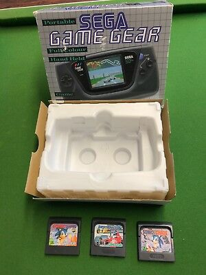 "Sega Gamegear console box with games inc Sonic ""no console"" collectors"